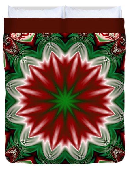 Christmas Flower Duvet Cover