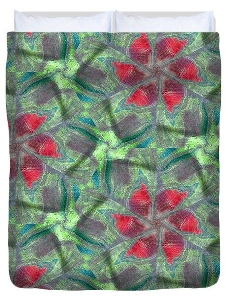 Christmas Flowers Duvet Cover by Maria Watt