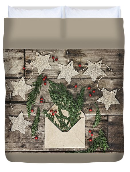Duvet Cover featuring the photograph Christmas Greens by Kim Hojnacki