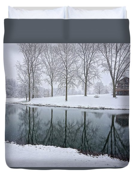 Winter Landsape Duvet Cover