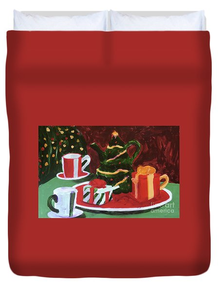 Christmas Holiday Duvet Cover