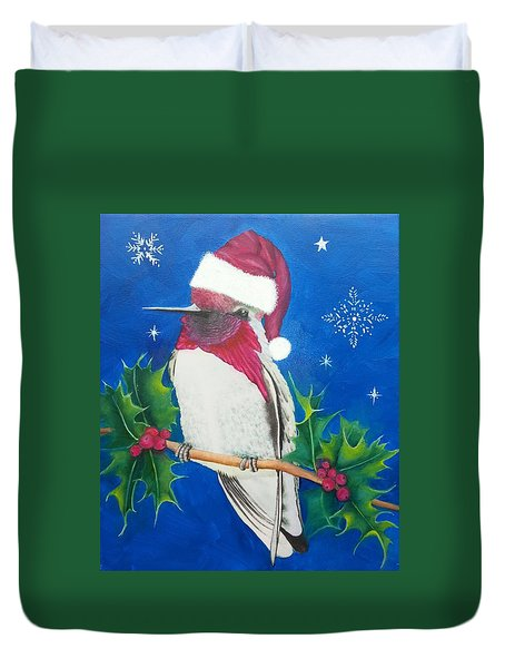 Christmas Hummer Duvet Cover