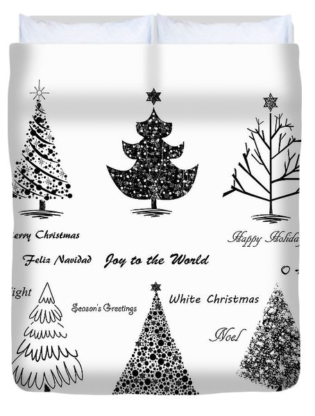 Duvet Cover featuring the photograph Christmas Illustration by Stephanie Frey