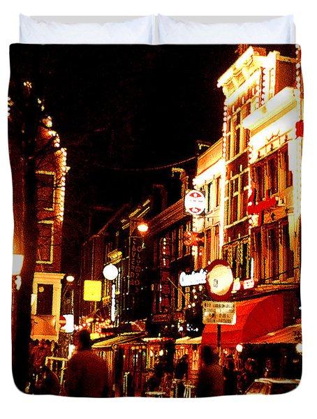 Christmas In Amsterdam Duvet Cover by Nancy Mueller