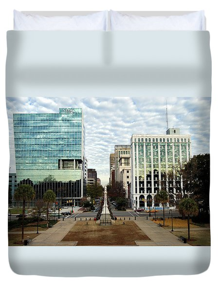 Christmas In Columbia Sc Duvet Cover by Skip Willits