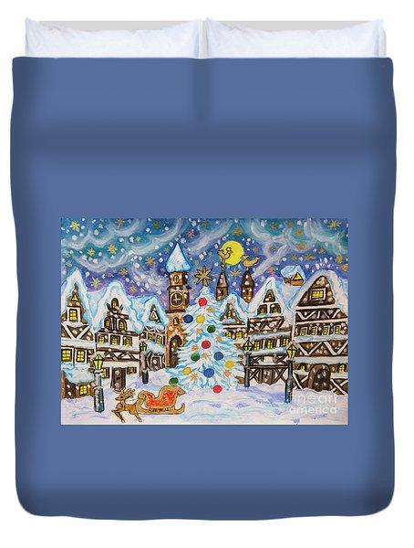 Christmas In Europe Duvet Cover