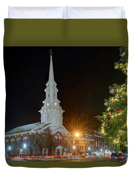 Christmas In Market Square Duvet Cover