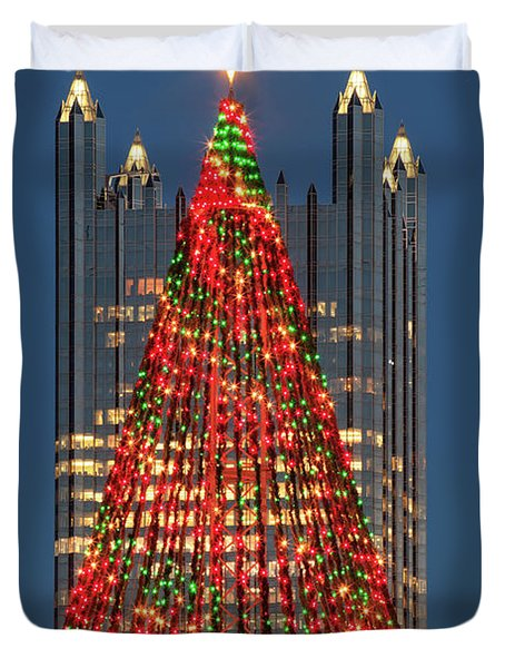 Duvet Cover featuring the photograph Christmas In Pittsburgh 2016  by Emmanuel Panagiotakis