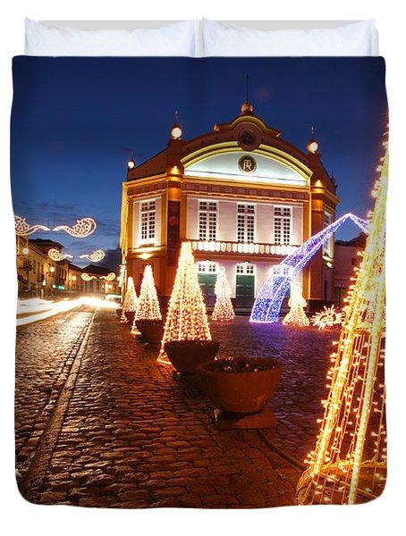 Christmas In Ribeira Grande Duvet Cover
