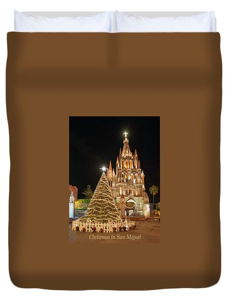 Christmas In San Miguel Duvet Cover
