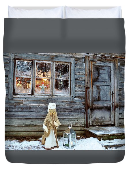 christmas in Scandinavia Duvet Cover by Tamara Sushko