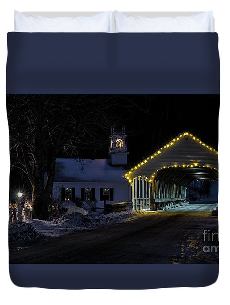 Christmas In Stark New Hampshire Duvet Cover
