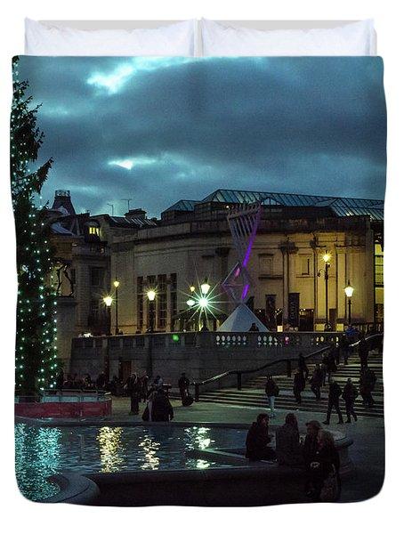 Christmas In Trafalgar Square, London 2 Duvet Cover