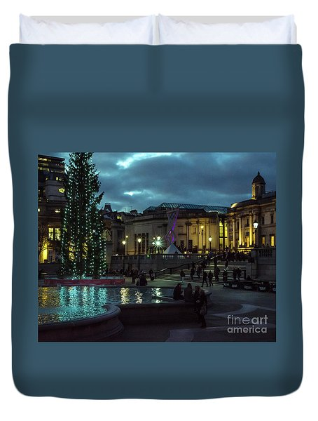 Christmas In Trafalgar Square, London 2 Duvet Cover