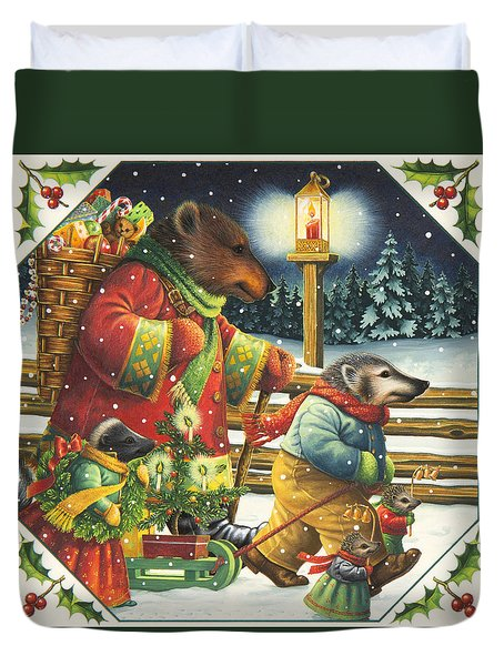 Christmas Journey Duvet Cover