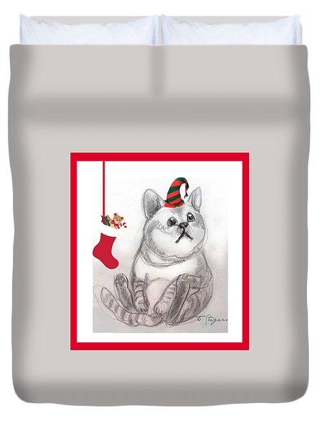 Christmas Kitty Duvet Cover