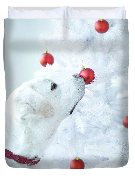 Christmas Lab Duvet Cover