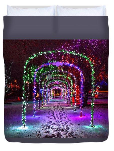 Christmas Light Arches Duvet Cover