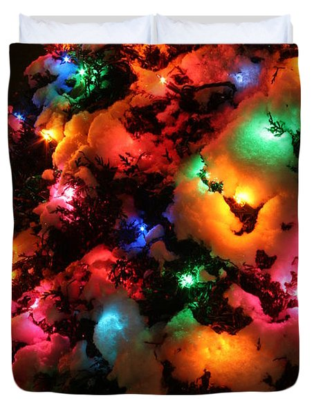 Christmas Lights Coldplay Duvet Cover