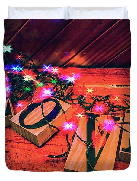 Christmas Love Decoration Duvet Cover