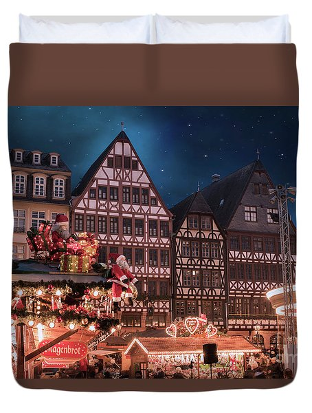 Duvet Cover featuring the photograph Christmas Market by Juli Scalzi
