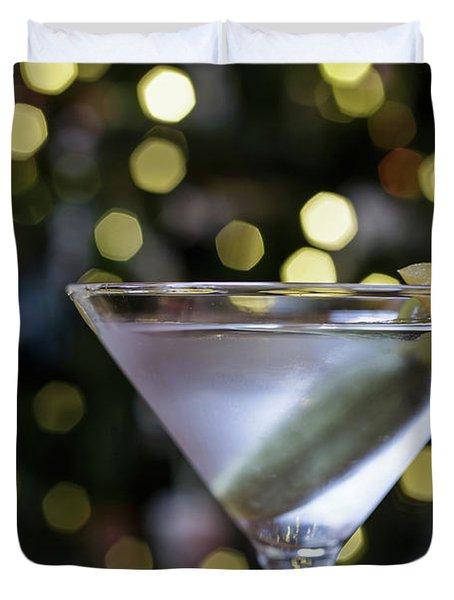 Christmas Martini Duvet Cover