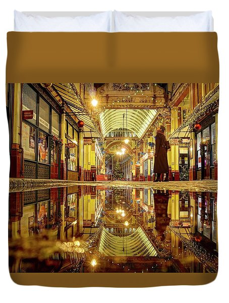 Duvet Cover featuring the photograph Christmas Mood In November by Quality HDR Photography