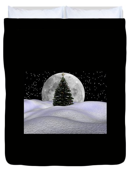 Christmas Moon Duvet Cover