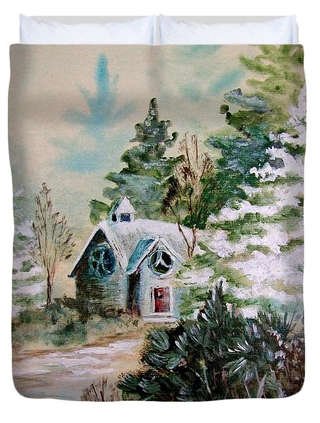 Christmas Morn Duvet Cover by Marilyn Smith