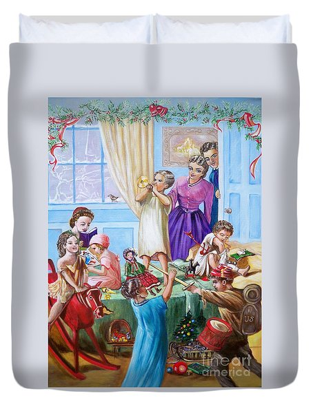 Christmas Morning Duvet Cover