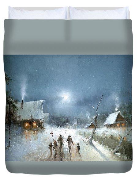 Christmas Night Duvet Cover