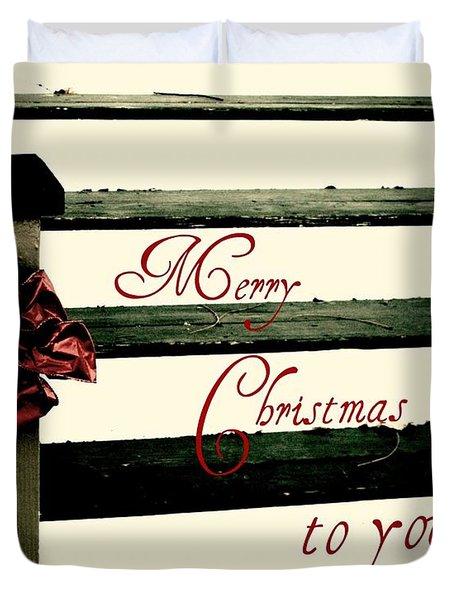 Christmas No. Eleven Duvet Cover by Chris Berry
