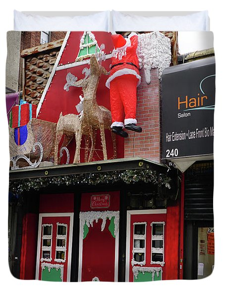 Christmas On Sherman Avenue  Duvet Cover