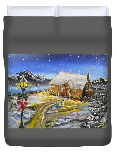 Christmas On The Bay Duvet Cover