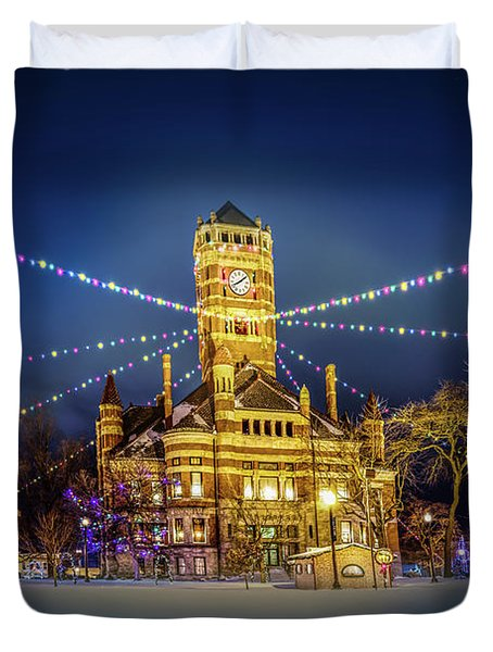 Christmas On The Square 2 Duvet Cover