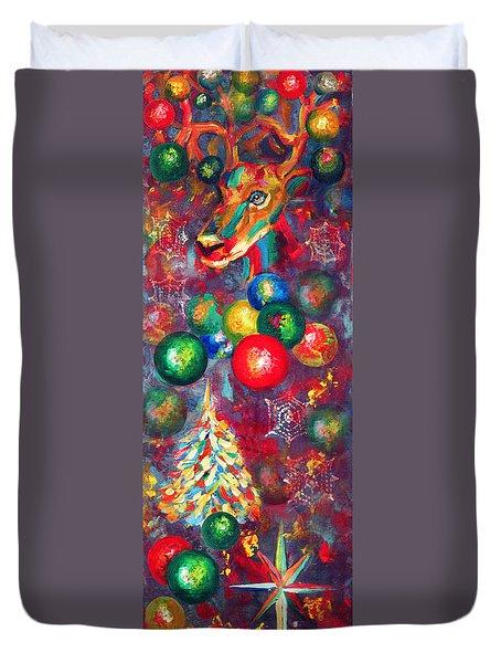 Christmas Orbs Duvet Cover by Peter Bonk