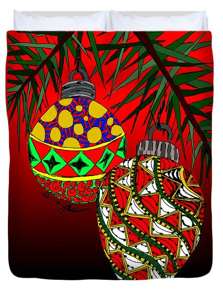 Christmas Ornaments Duvet Cover