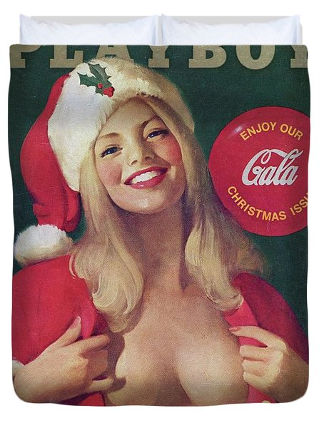 Christmas Playboy Vintage Cover Duvet Cover