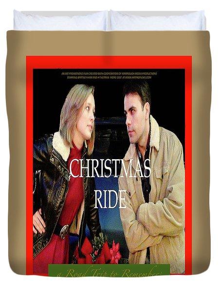 Christmas Ride Poster 16 Duvet Cover by Karen Francis