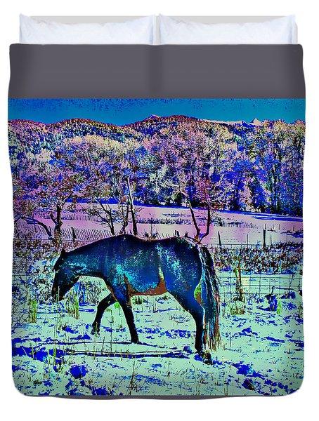 Christmas Roan El Valle Iv Duvet Cover by Anastasia Savage Ealy