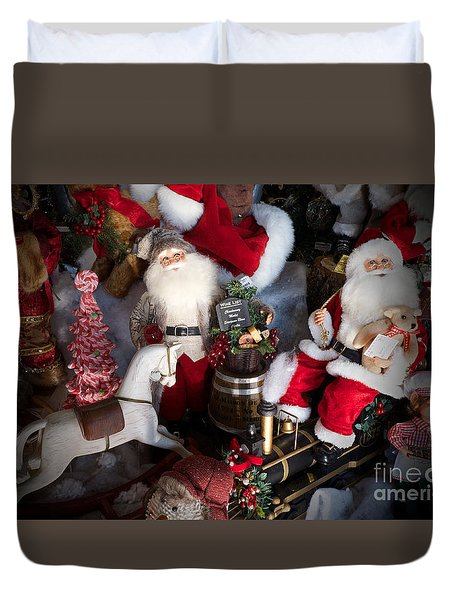 Duvet Cover featuring the photograph Christmas Rocking Horse II by Vinnie Oakes
