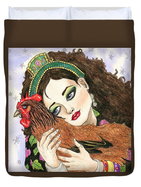 Christmas Rooster Duvet Cover