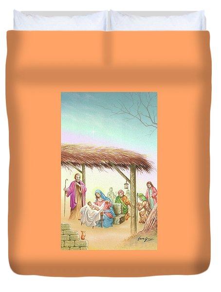 Christmas Scene 1 Duvet Cover