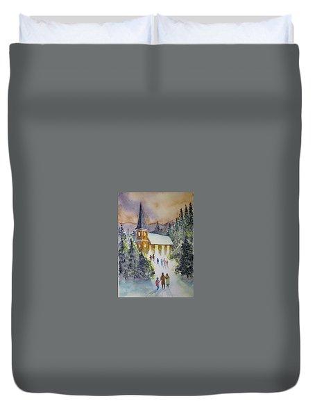 Christmas Service Duvet Cover