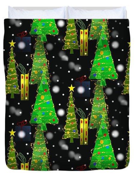 Christmas Snow Fall Duvet Cover