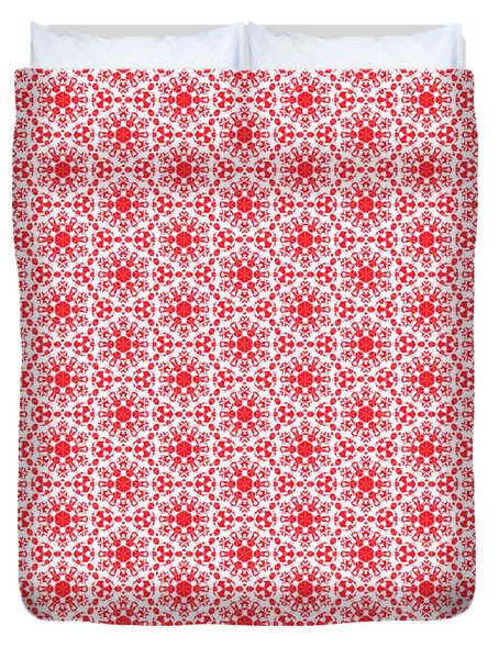 Christmas Snow Flakes Pattern 2 Duvet Cover