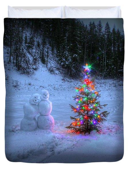 Christmas Spirit At Grouse Creek Duvet Cover