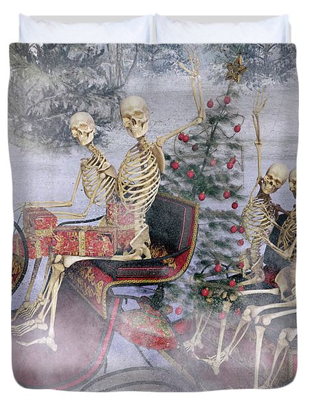 Christmas Spirits Heading To Topsail Island Nc Duvet Cover