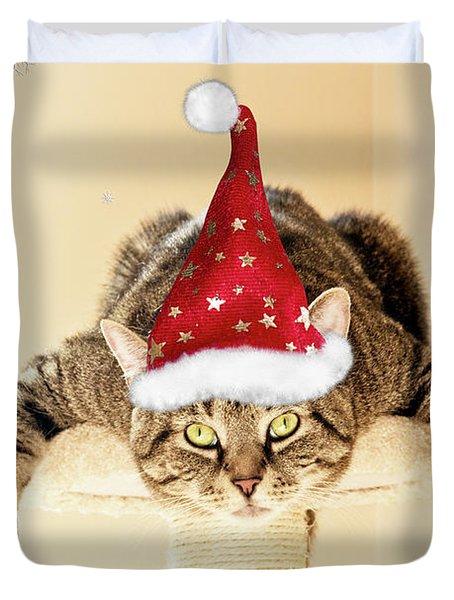 Christmas Splat Cat Duvet Cover