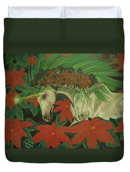 Christmas Star Duvet Cover by Melita Safran